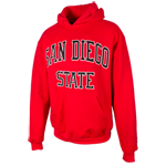 San Diego State Classic Pullover Sweatshirt-Red