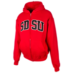 SDSU Classic Twill Zip Sweatshirt-Red