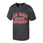 San Diego State University Classic Tee-Charcoal
