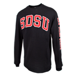 SDSU Classic Long Sleeve Tee-Black