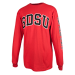 SDSU Classic Long Sleeve Tee-Red