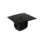 Graduation Regalia Cap-Black