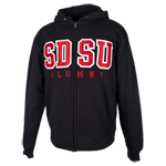 SDSU Alumni Big Cotton Zip Sweatshirt-Black