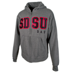 SDSU Dad Zip Sweatshirt-Graphite