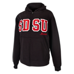 SDSU Mom Zip Sweatshirt-Black