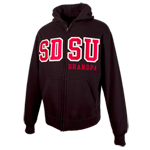 SDSU Grandpa Zip Sweatshirt-Black