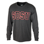 SDSU Long Sleeve Tee-Charcoal
