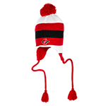 SD Spear Earflap Beanie-Red, White & Black