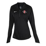 Women's Nike SD Spear 1/4 Zip Top-Black