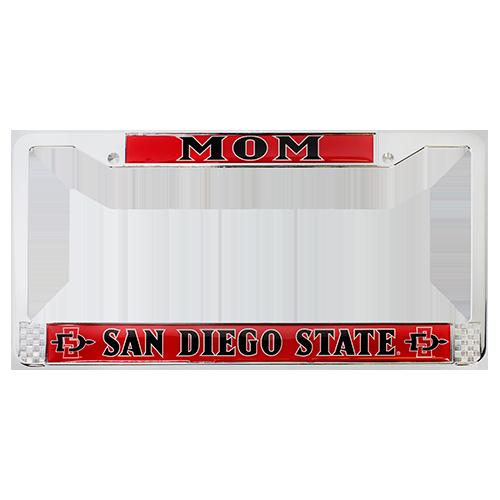9f3ec7bbd Mom License Plate Frame-Chrome