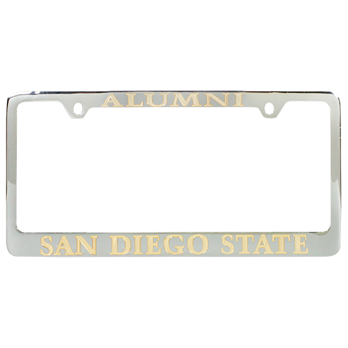 Desert Cactus San Diego State University SDSU Aztecs NCAA Metal License Plate Frame for Front Back of Car Officially Licensed Mascot