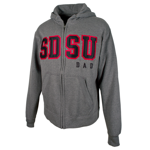 74b03d29 SDSU Dad Zip Sweatshirt-Graphite