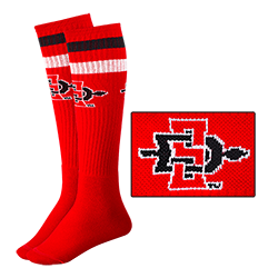 SD Spear Tube Socks-red