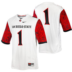 Nike Aztec Calendar Jersey-White & Red