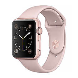 Shopaztecs Apple Watch Series 2 Rose Gold Aluminum Case W Pink Sand Sport Band