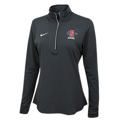 Women's Nike SD Spear Alumni 1/4 Zip Top-Charcoal