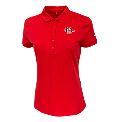 Women's Nike SD Spear Polo-Red