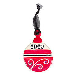 SDSU Ceramic Ornament