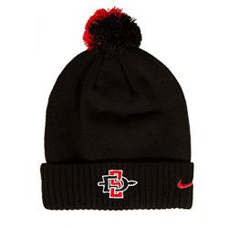 2018 Nike Sideline SD Spear Pom Beanie-Black