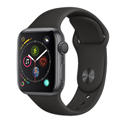 Apple Watch Series 4 GPS 40MM (Space Gray) Aluminum Case w/ Black Sports Band