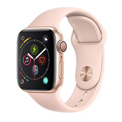 Apple Watch Series 4 GPS (Gold) Aluminum Case with Pink Sand Sport Band