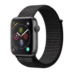 Apple Watch Series 4 GPS 44MM (Space Gray) Aluminum Case w/ Black Sport Loop