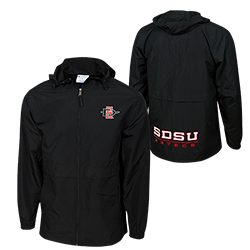 SD Spear SDSU Aztecs Full Zip Water Resistant Jacket - Black