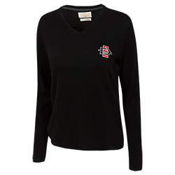Women's SD Spear Cashmere Sweatshirt-Black