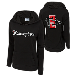Women's SD Spear Champion Sweatshirt-Black