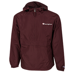 Champion Water Resistant Packable Jacket-Maroon
