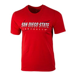2019 Nike Sideline Pre-Season San Diego State Football Tee-Red