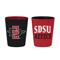 2-pack SDSU Aztecs & SD Spear Shot Glass - Red/Black