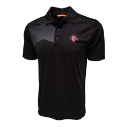 SD Spear Polo with Asymmetrical Design - Black