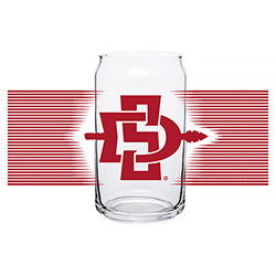 SD Spear 16oz Glass Cup