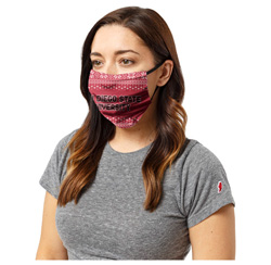 San Diego State Holiday Face Covering - Red