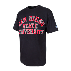 San Diego State University Classic Tee-Black