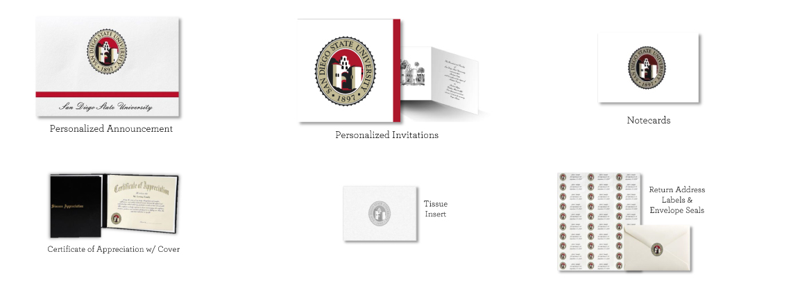 Personalized Announcements. Personalized Invitations. Notecards. Certificate of Appreciation w/ Cover. Tissue Inserts. Return Address Lables and Envelope Seals.