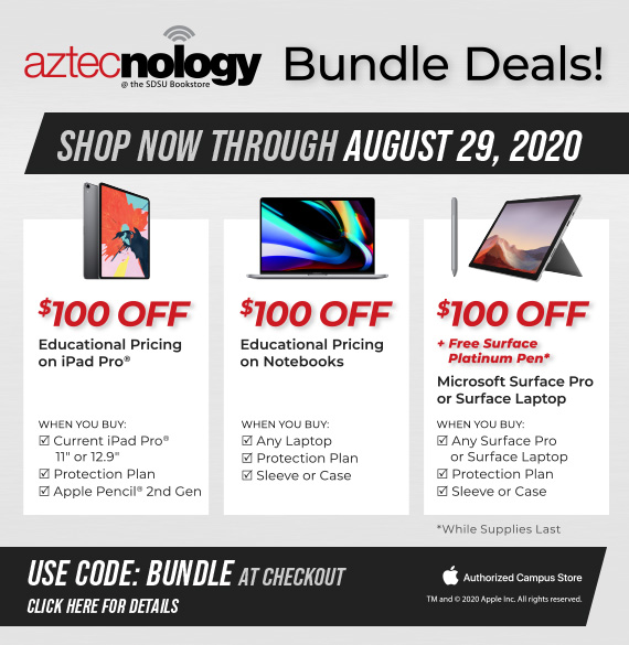 Bundle Deals! Shop now through August 29th, 2020. Use Code: Bundle at checkout. Shop In-Store and Online. While supplies last.