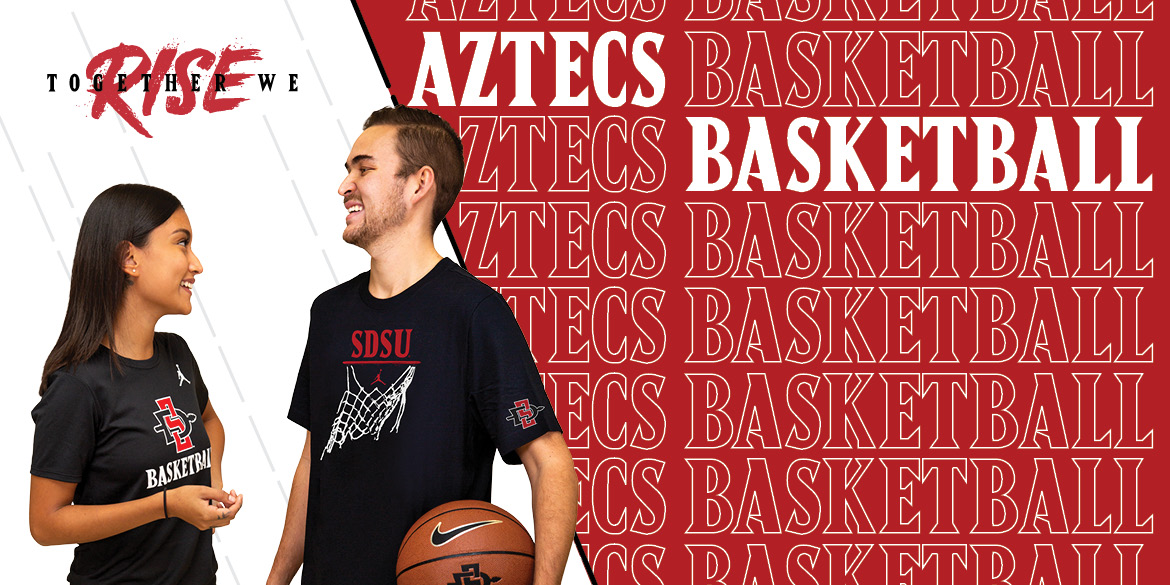 Together we rise. Aztec Basketball
