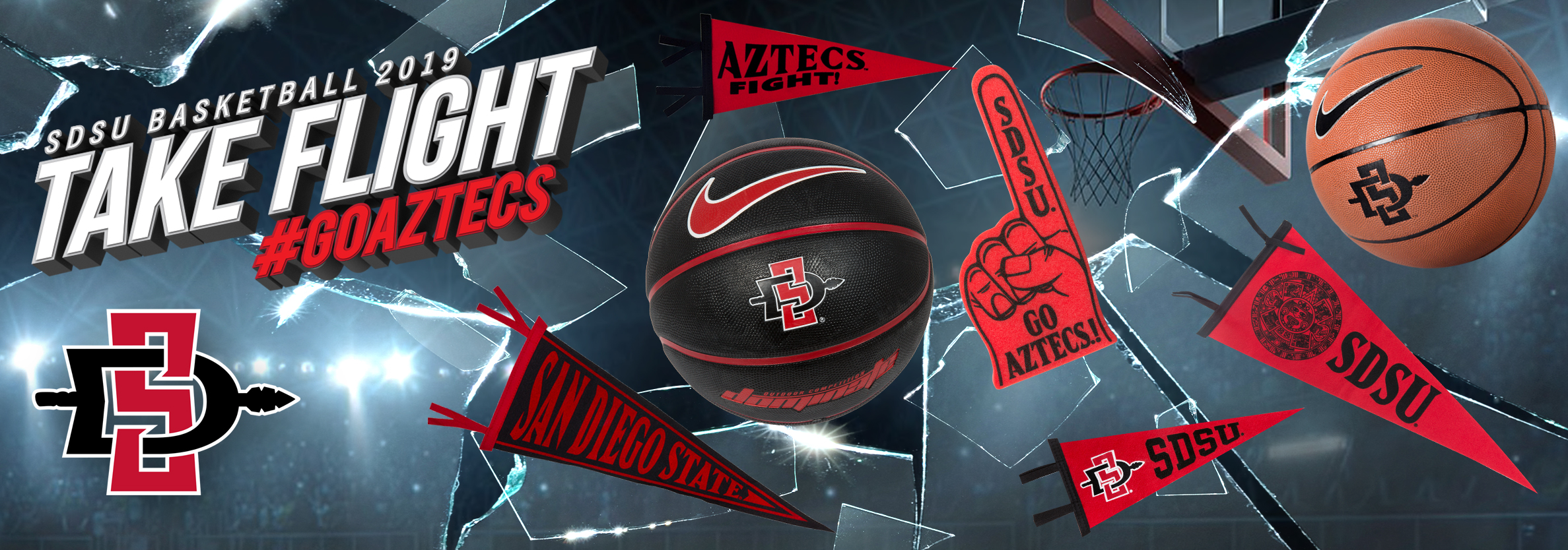 SDSU Basketball 2019. Take Flight. #GOAZTECS