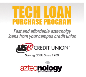Tech loan purchase program. Fast and affordable aztecnology loans from your campus credit union. USE Credit Union. Serving SDSU Since 1969. Aztecnology.