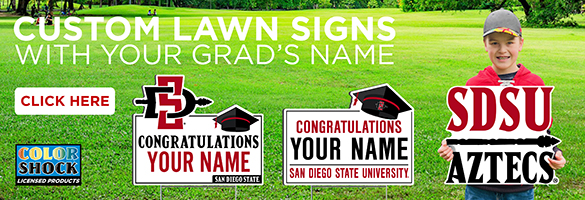 Custom lawn sign with your grad's name